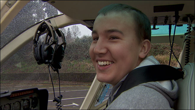 Police surprise teenager battling brain cancer with gift