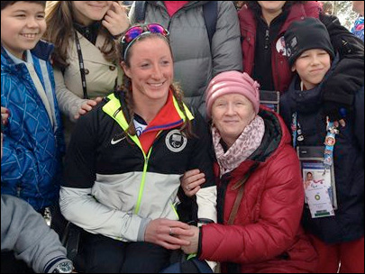 US Paralympian reunited with Russian birth mother
