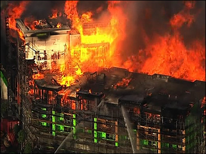 Fire burns high-rise under construction in San Francisco