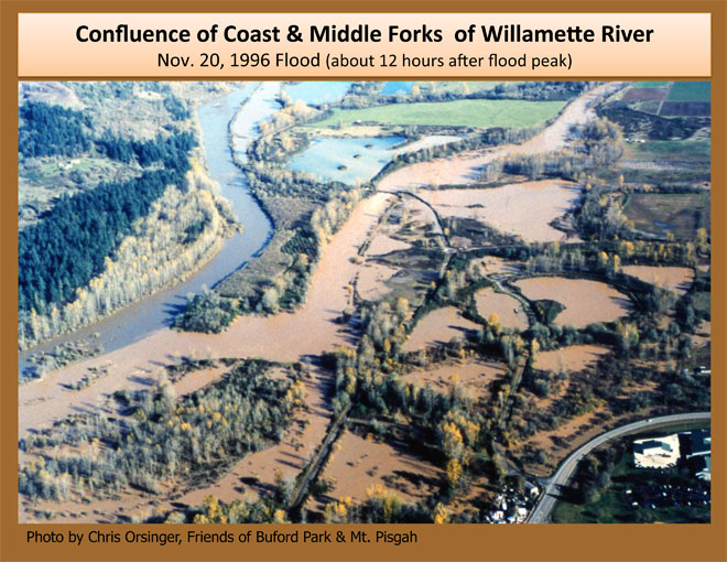 Aerial footage of Coast and Middle Fork confluence
