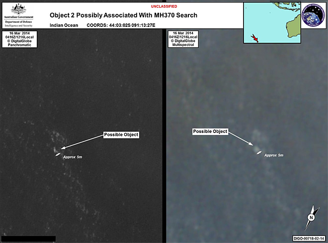 'Best lead' in plane search: 2 objects seen in remote sea