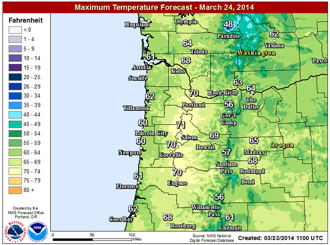 Warm, sunny Monday sets new record high temp