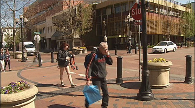 Foot traffic steps up in downtown Eugene
