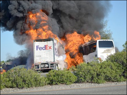 FedEx sued over deadly California bus crash