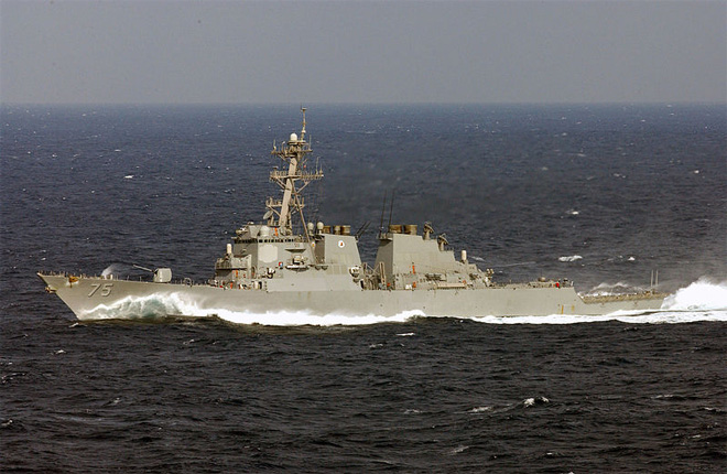 Russian jet makes multiple passes at U.S. warship