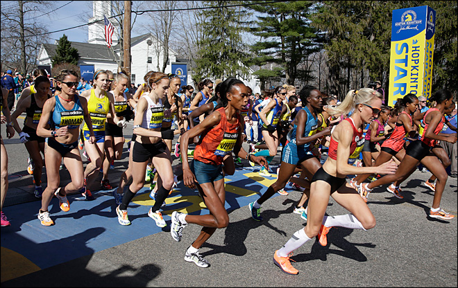 Thousands run first Boston Marathon since bombings