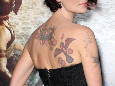 Photos: Celebrities show off their tattoos
