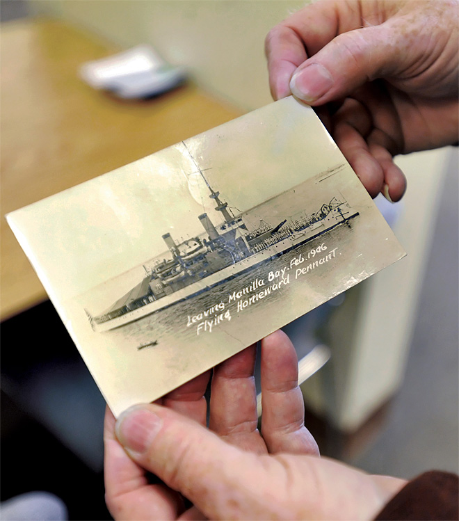 Post office delivers card from before World War II