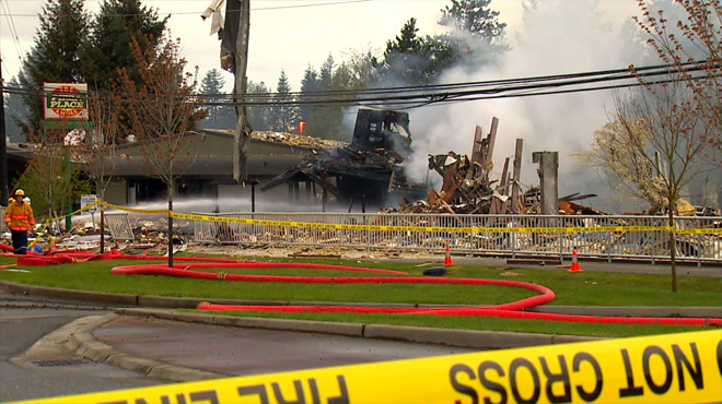 Gas explosion destroys buildings in Washington
