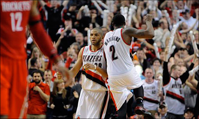 Blazers up 3-1 with 123-120 OT win over Rockets