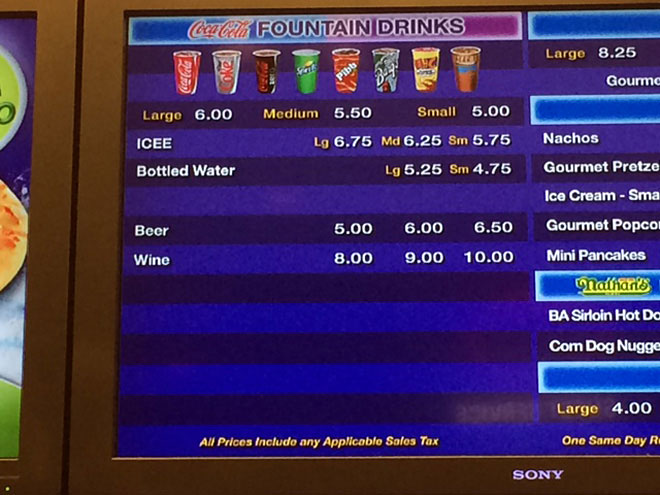 Beer and wine now on menu at mall movie multiplex snack bar
