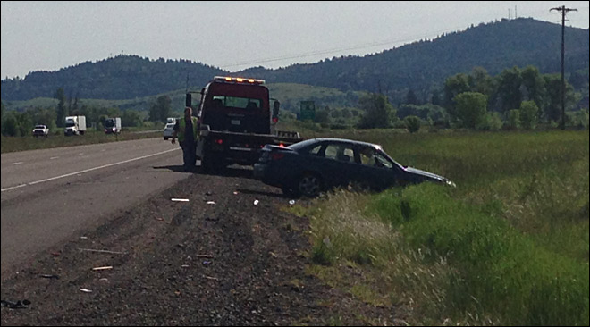 Man survives being thrown from flipped car onto I-5 near Yoncalla