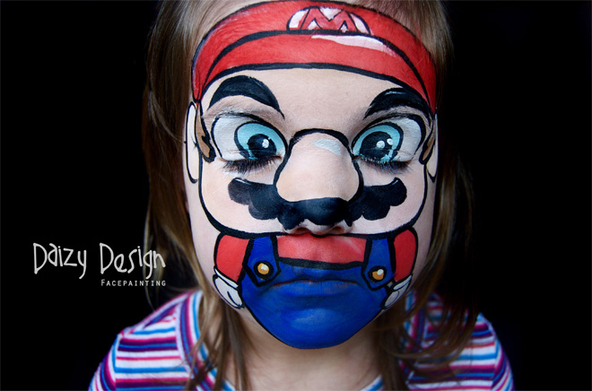 Artist whips up incredible face paintings