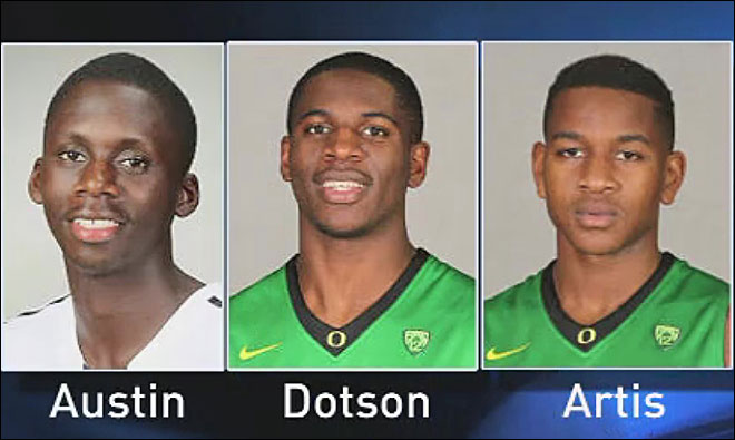 Basketball players accused of rape suspended from University of Oregon