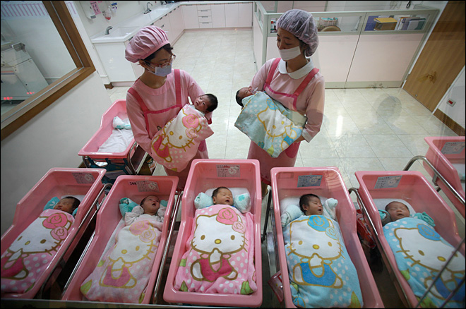Fear of economic blow as births drop around world
