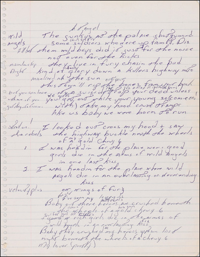 Original 'Born to Run' lyrics on display at Duke