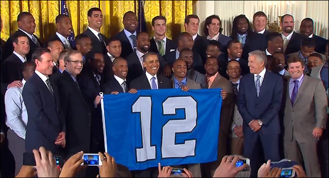 Obama praises Super Bowl champ Seahawks at White House