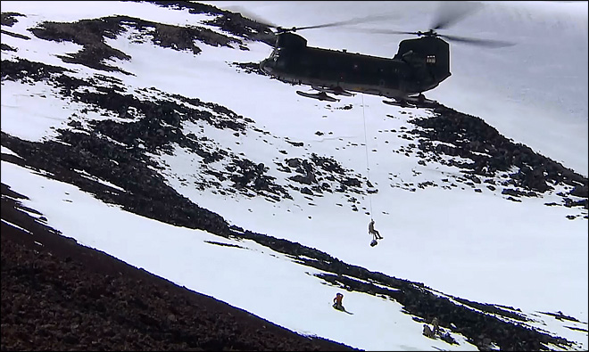 Come along as Army Reserve rescuers train atop Mt. Rainier