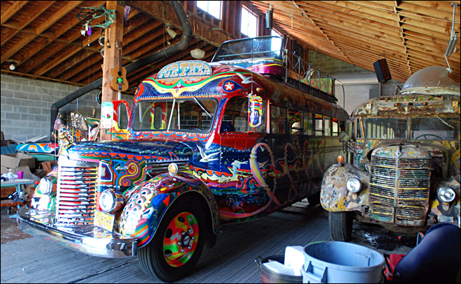 Kesey's psychedelic bus gears up for 50th anniversary
