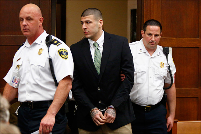 Prosecutor: Aaron Hernandez killed 2 over spilled drink