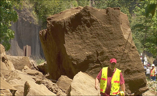Rockslide closes Historic Columbia River Highway
