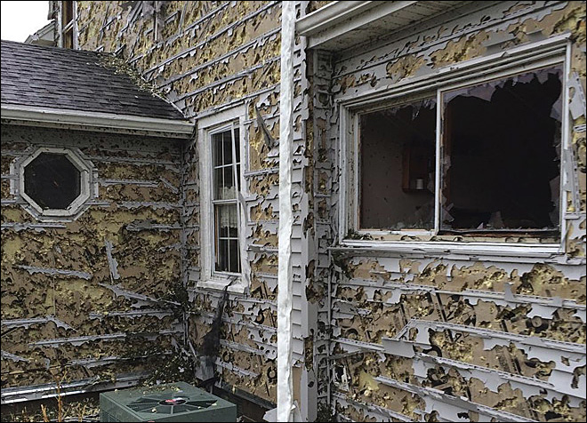 Surreal pics: Nebraska homes, cars blasted by tennis ball-sized hail