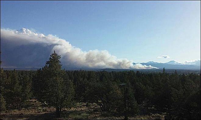 Wildfire near Bend human caused, reward offered