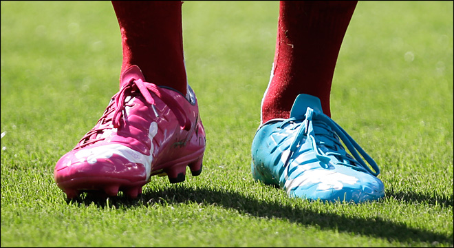 Pink and blue cleats? A look at World Cup footwear