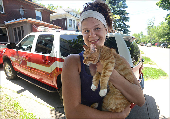 Would-be cat rescuer ends up needing rescue