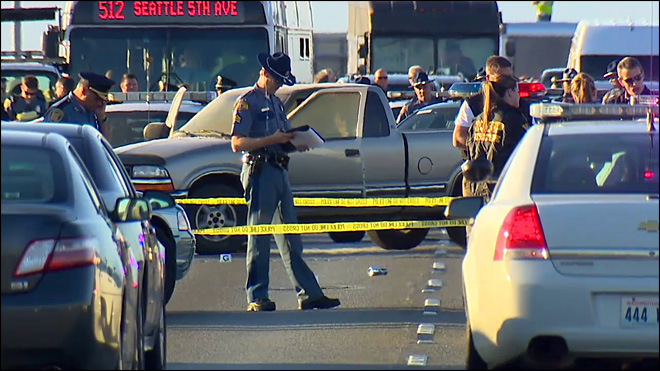 Man shot by troopers on I-5 in Seattle dies at hospital