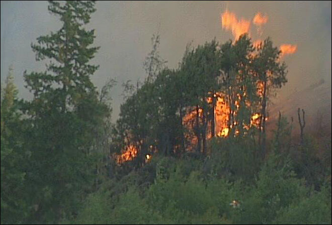 Fire near Hood River