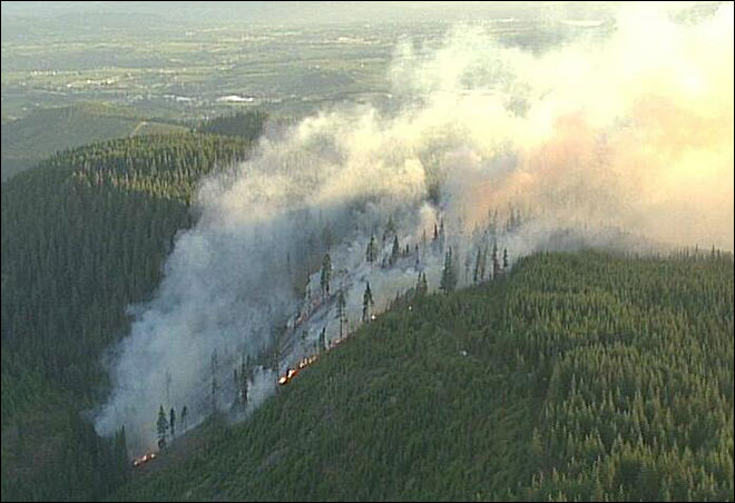 ODF: Wildfire burning south of Hood River should be contained Thursday
