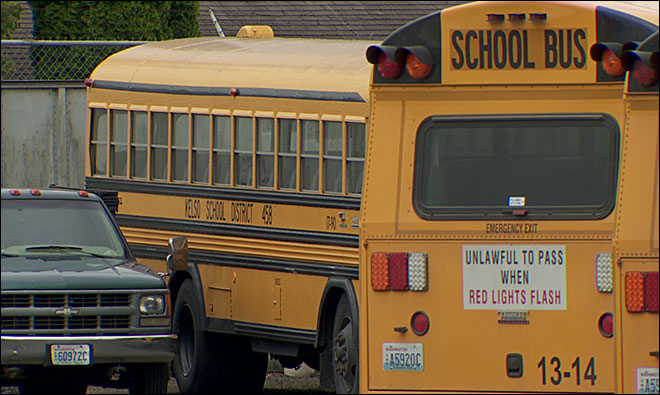 Students suffer concussions when school bus driver slams on brakes