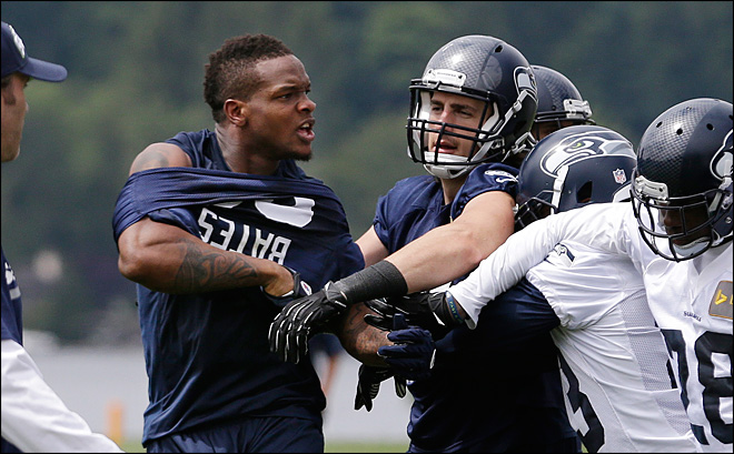 Richard Sherman part of scuffle during Seahawks minicamp