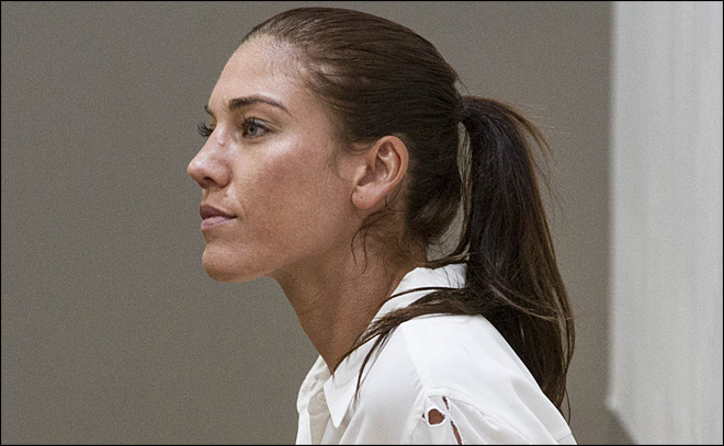 Soccer star Hope Solo pleads not guilty to assault