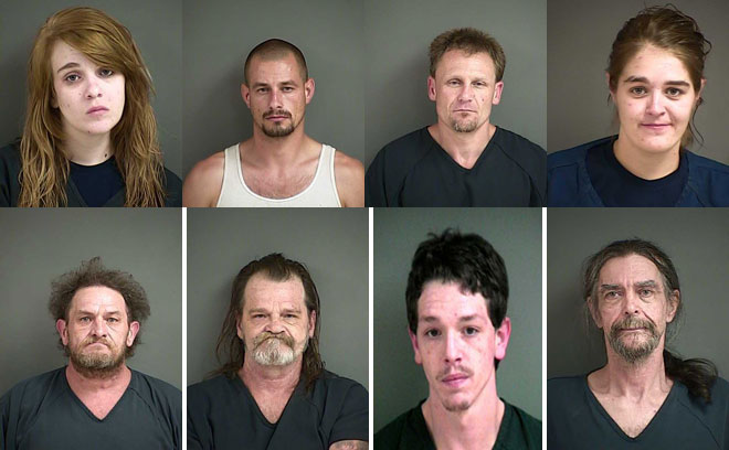 Sheriff: 9 arrested as deputies search 'stash houses' linked to burglaries