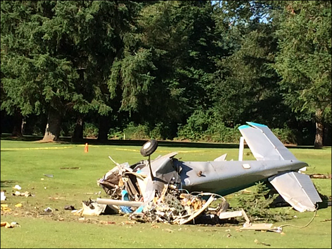 1 killed in small plane crash at Snoqualmie Falls Golf Course