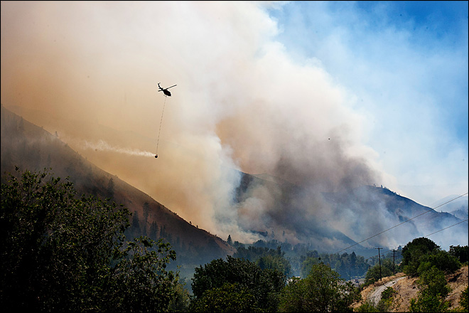 Evacuations ordered in Central Wash. wildfire