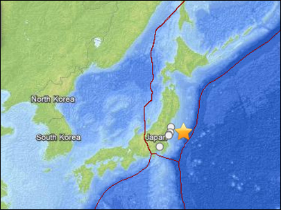 6.8 quake hits Japan near crippled nuclear plant
