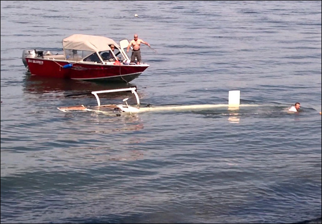 Helicopter crashes into Puget Sound waters near Kingston