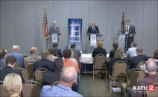 Watch: Oregon gubernatorial debate - 7/18/2014 - Part 1