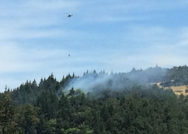 Fire closes park around Mount Pisgah