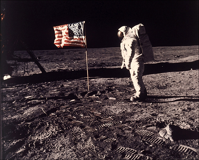 Original AP report: 45 years ago, humans first set foot on the moon