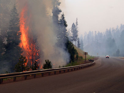 Traffic allowed on Hwy 26 after week-long closure due to wildfire