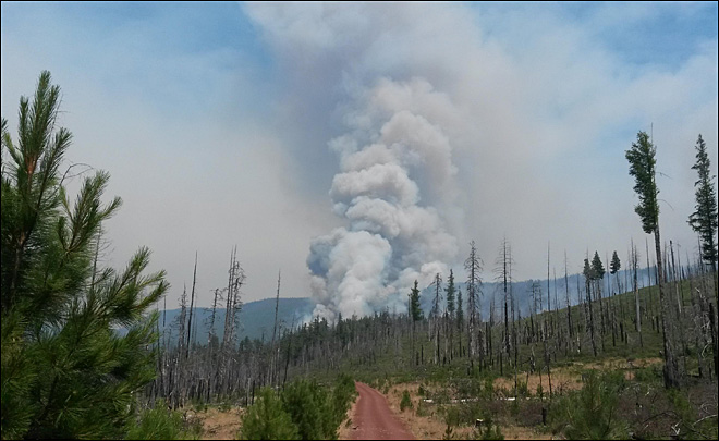 6 new range fires burning in eastern Oregon