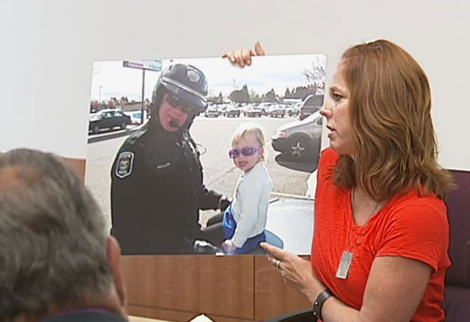 Accused cop killer hears from officer's family at psych hearing