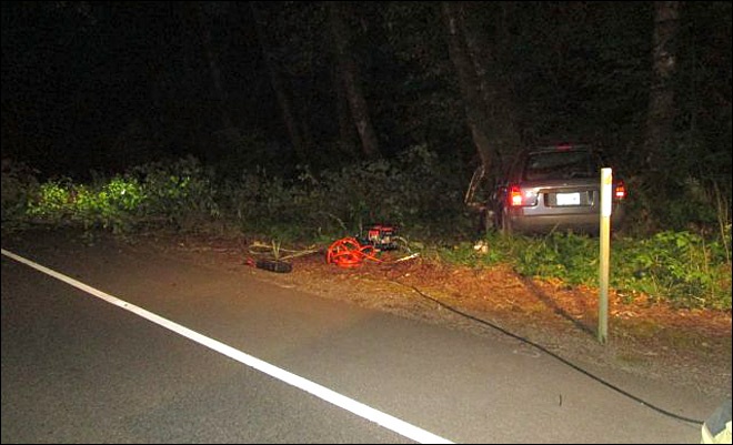 Man dies after crashing into tree off Hwy 126W near Mapleton