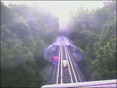 Watch: 2 women barely escape death on railroad bridge