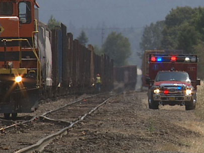 Woman hit by train in Eugene