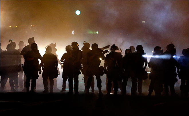 Police defend use of tear gas, smoke at Ferguson protests